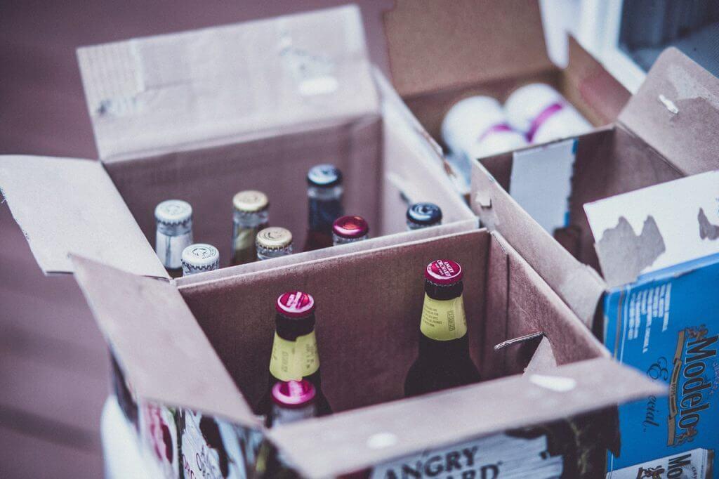 Öl i låda