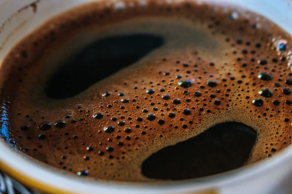 En av mina tre koppar kaffe per dag.